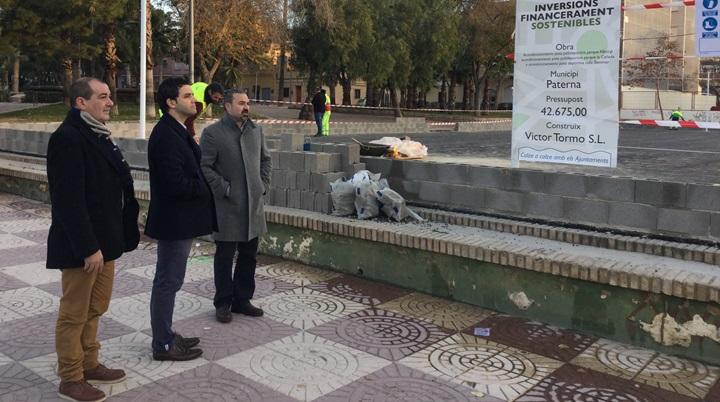 El Alcalde supervisó las obras en los parques de Alborgí y la Pinada