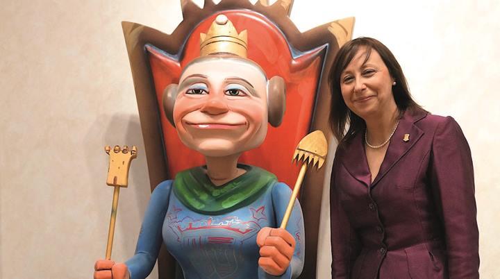 Elena Martínez considera que las Fallas son cultura