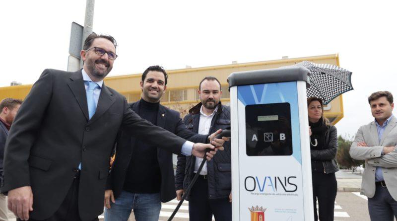 Paterna estrena el primer punto de recarga eléctrica público y gratuito en el Parque Tecnológico