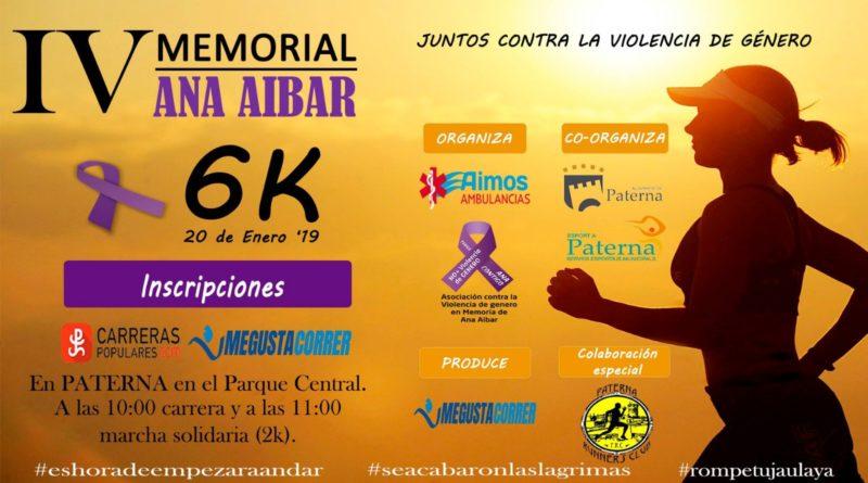Paterna acoge el domingo 20 de enero la IV Carrera contra la Violencia de Género Ana Aibar