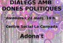 El Centro social de La Canyada acoge una mesa redonda con mujeres políticas para charlar sobre feminismo